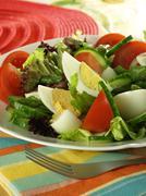 low-fat vegetarian salad. - stock photo