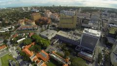 Aerial View of downtown Coral Gables, Florida Stock Footage