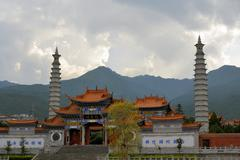 confucius temple in dali, china - stock photo