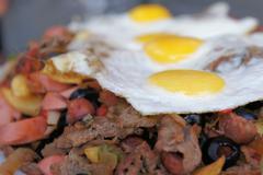 Unhealthy fatty food Stock Photos