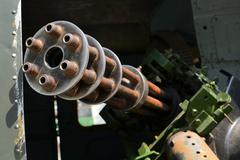 thirty mm gau gatling-gun tankbuster - stock photo