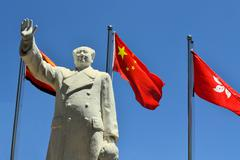 china's former chairman mao zedong - stock photo