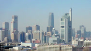 Stock Video Footage of The panorama view of Guomao CBD at daytime, Beijing, China
