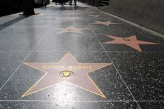 chuck norris' star on hollywood walk of fame - stock photo
