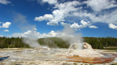 Rocket Geyser and Grott Geyser Stock Footage
