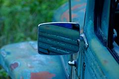 Old Jeep Mirror - stock photo