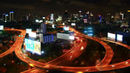 Stock Video Footage of Bangkok at night