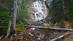 Point Lace Falls Canada Stock Footage
