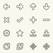 Simple Web icon sets. Line icons. - stock illustration