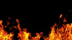 Fire Medium Shot - Logo Frame - stock footage