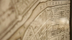 Abstract Focus Pull Of Wall Map - stock footage