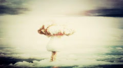 Atom bomb detonating - stock footage