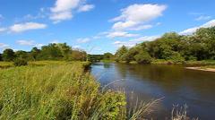 Kishwaukee River in Illinois Stock Footage