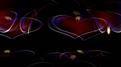 Heart Candle Circle Stock Footage