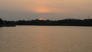 Stock Video Footage of Setting Sun at Putrajaya Lake, Putrajaya 720p