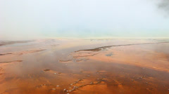 Steam from Grand Prismatic Spring Stock Footage