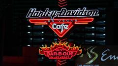 Harley Davidson Las Vegas Cafe Stock Footage