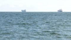 Ships 2 away Stock Footage