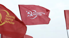 DONETSK anniversary of the socialist revolution - stock footage