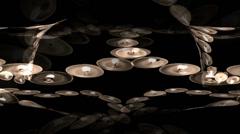 Heart Lights Circle Stock Footage