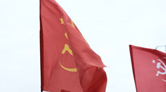 Communist flag Stock Footage