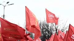 Communist flag Stock Footage