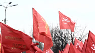 Stock Video Footage of communist flag