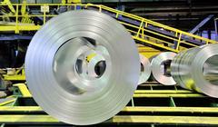Sheet tin metal rolls Stock Photos