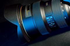 dslr professional lens - stock photo