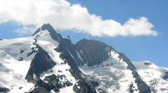 Grossglockner peak clouds Stock Footage