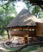 African bar in a safari resort Stock Photos