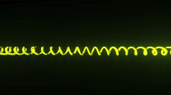 Current flow through curved line Stock Footage