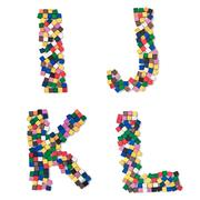 children ijkl complete font available - stock photo