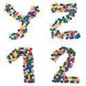 Stock Photo of children yz12 complete font available