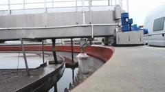Sewage treatment plant - Waste water treatment  (circular sedimentation tank) 6 Stock Footage