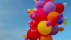Balloons In The Sky - stock footage