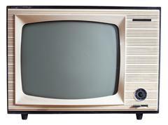 Old russian tv set Stock Photos