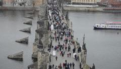 Prague. Charles Bridge - stock footage