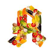 symbol for pharmacy of fruits and vegetables - stock illustration