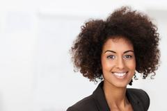 Stock Photo of vivacious african american businesswoman