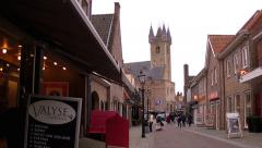 Small dutch town Sluis. Stock Footage