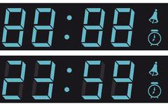 the display a digital clock. - stock illustration