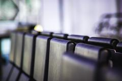 Airport lounge seats - stock photo