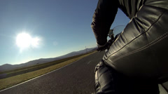 Motorcycle track Racing Side view Stock Footage