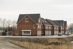 new build houses in holland - stock photo