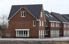 New build houses in holland Stock Photos