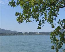 SALZKAMMERGUT, AUSTRIA -  Lake Mondsee (Moonlake) mountain lake Stock Footage
