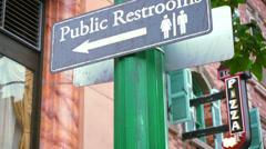 Public Restroom Stock Footage