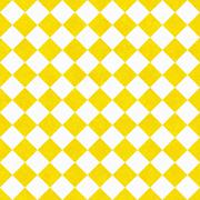 Yellow and white diagonal checkers on textured fabric background Stock Illustration