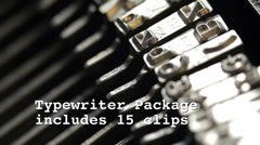 Stock Video Footage of old typewriter